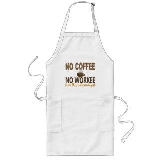 Ningún café ningún endocrinólogo de Workee Delantal Largo