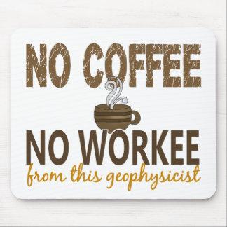 Ningún café ningún geofísico de Workee Tapete De Raton
