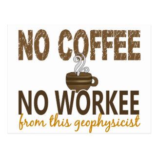 Ningún café ningún geofísico de Workee Tarjeta Postal