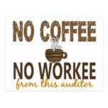 Ningún café ningún interventor de Workee Tarjetas Postales