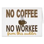 Ningún café ningún interventor de Workee Tarjetas