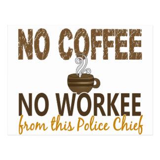 Ningún café ningún jefe de policía de Workee Postal