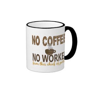 Ningún café ningún jefe de policía de Workee Taza A Dos Colores
