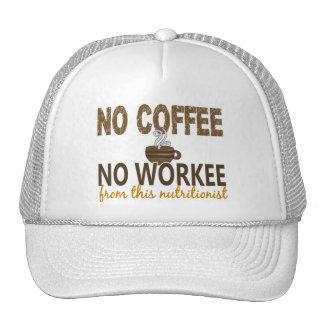 Ningún café ningún nutricionista de Workee Gorro