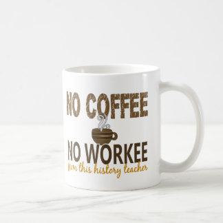 Ningún café ningún profesor de la historia de Work Taza Básica Blanca
