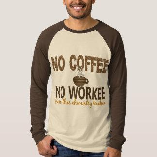 Ningún café ningún profesor de la química de remeras