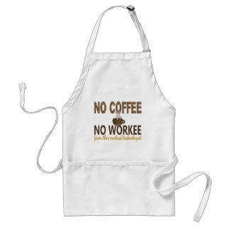 Ningún café ningún tecnólogo médico de Workee Delantal