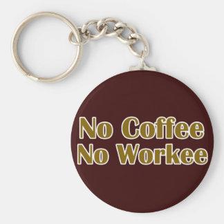 Ningún café ningún Workee Llaveros Personalizados