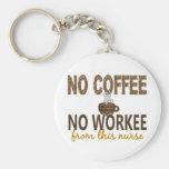 Ningún café ninguna enfermera de Workee Llavero