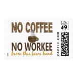 Ningún café ninguna mano de granja de Workee