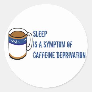 Ningún café etiqueta redonda