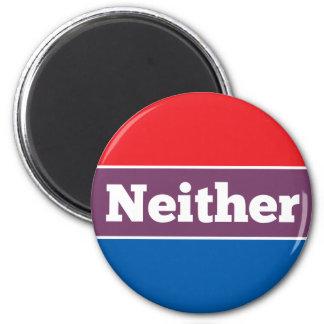 Ningún candidato político imán redondo 5 cm