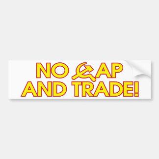 ¡Ningún casquillo y comercio! Etiqueta De Parachoque