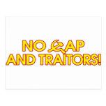 ¡Ningún casquillo y traidores! Postal