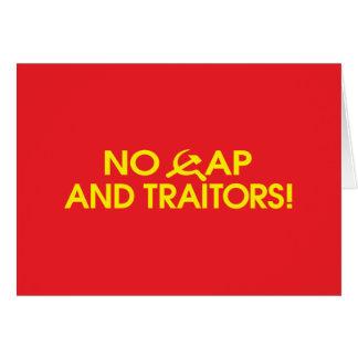¡Ningún casquillo y traidores! Tarjetas