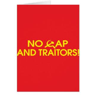 ¡Ningún casquillo y traidores! Felicitacion
