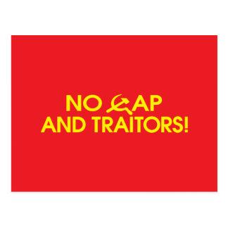 ¡Ningún casquillo y traidores! Tarjetas Postales