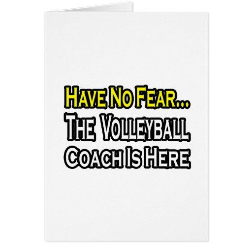 Ningún coche del voleibol del miedo… tarjeta