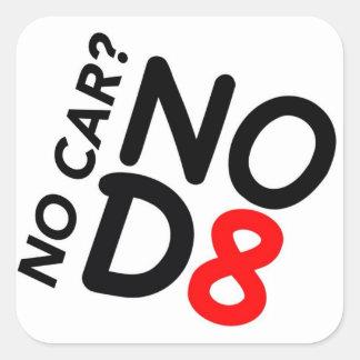Ningún coche… NOD8 Calcomanías Cuadradases