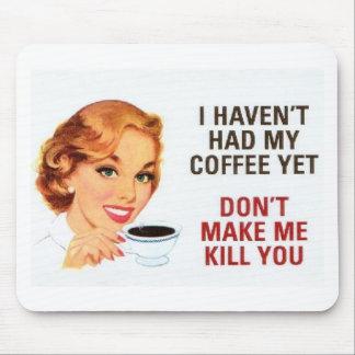 Ningún cojín del café con todo de ratón… mousepad