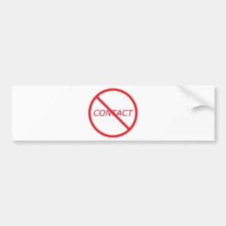 Ningún contacto - todo rojo pegatina de parachoque