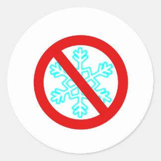 Ningún copo de nieve pegatina redonda