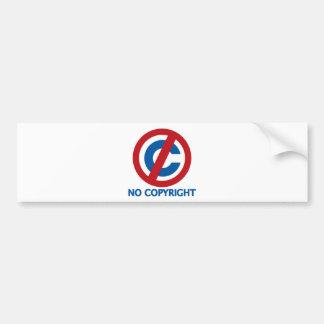 Ningún Copyright Etiqueta De Parachoque