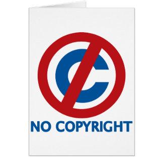 Ningún Copyright Tarjeta De Felicitación