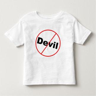 Ningún cristiano permitido diablo poleras