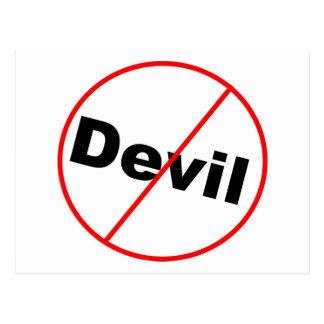 Ningún cristiano permitido diablo tarjetas postales
