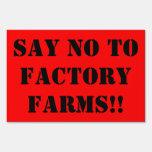 Ningún cultivo de la fábrica