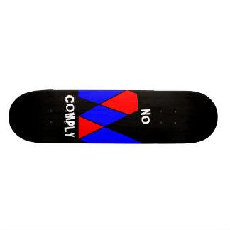 Ningún cumplen los monopatines skateboards