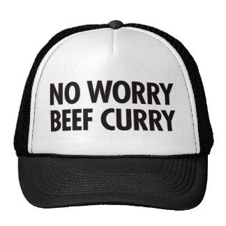 Ningún curry de la carne de vaca de la preocupació gorro de camionero
