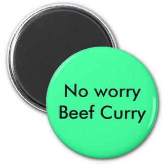 Ningún curry de la carne de vaca de la preocupació iman