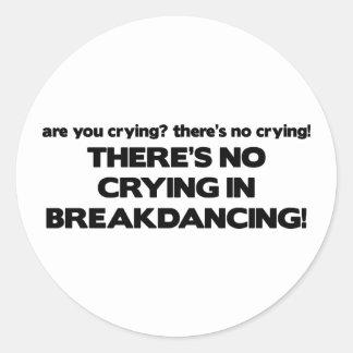 Ningún Cyring - Breakdancing Etiquetas Redondas