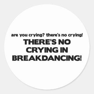 Ningún Cyring - Breakdancing Pegatinas Redondas