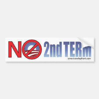Ningún de Obama término en segundo lugar Pegatina Para Auto