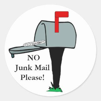 NINGÚN del correo basura pegatina por favor