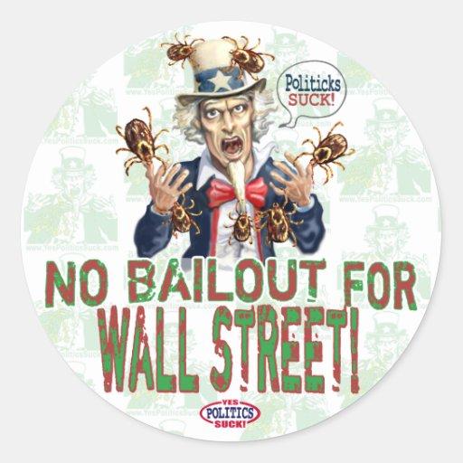 Ningún desalojo urgente para Wall Street Pegatina Redonda