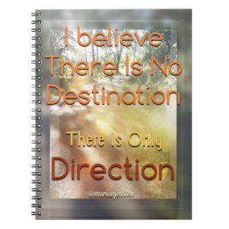 Ningún destino - solamente dirección libretas