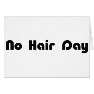 Ningún día del pelo tarjetas
