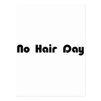 Ningún día del pelo tarjetas postales