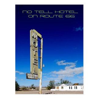 Ningún diga el hotel tarjetas postales