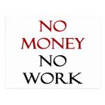 Ningún dinero ningún trabajo postales