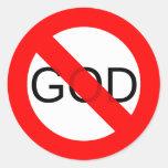 Ningún dios anti de dios etiqueta