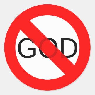 Ningún dios anti de dios pegatina redonda