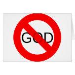 Ningún dios anti de dios tarjeta