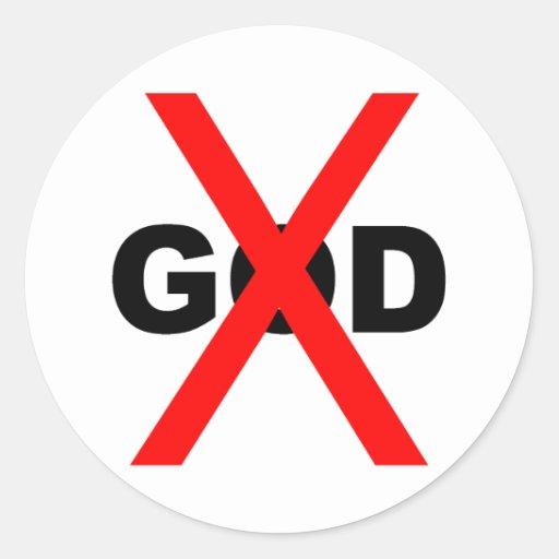 Ningún dios etiquetas redondas
