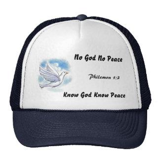 Ningún dios ninguna paz… gorras