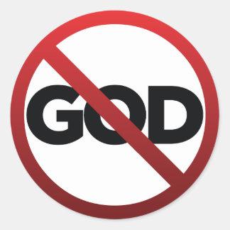 Ningún dios pegatina redonda